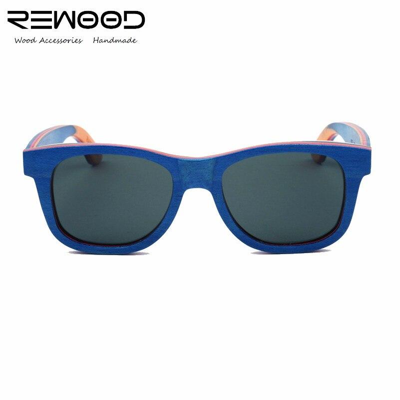 Rewood oculos de sol masculino Brand Designer Bamboo Wood Sunglasses Men Skateboard Wooden Polarized Eyewear <br><br>Aliexpress