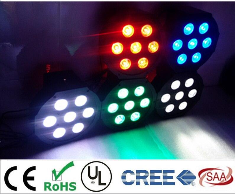 CREE LED Par 7x12W RGBW 4IN1 LED Luxury DMX 4/8 Channels Led Flat Par Lights<br>