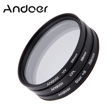 Andoer 58mm Filter Set UV + CPL + Star 8-Point Filter Kit for Canon Nikon Sony DSLR Camera Lens with Case