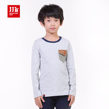 jjlkids kids boys news t-shirts fashion pockets partten boys pullovers kids tops size 4-11 years(China)