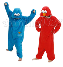 Red Elmo Adult Pajama Sets Women Pajamas Adults Cosplay Cartoon Blue Elmo  Onesie Animal Onesies  Sleepwear Flannel