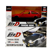 1:28 Film version Initial D Toyota AE86 sports car Alloy metal Sports car model child toy Collection decoration gift(China)