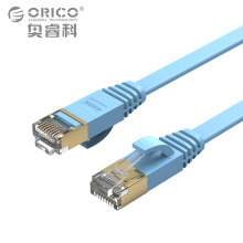 ORICO Cat7 Ethernet Cable RJ45 Cat 7 Flat Network Lan Cable RJ45 Patch Cord for PC Router Laptop Cable Ethernet 10000 Mbps Blue(China)