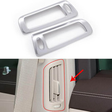 YAQUICKA 2x Chrome Car Interior B Pillar Air Outlet Decoration Trim Frame Sticker For Mercedes Benz S Class S300 S320 S350 ABS