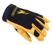 Leather Driver Glove Grain Cow Leather Mechanics Safety Glove Leather Work Glove(China)