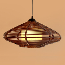 New Brown Handmade Modern Rattan Pendant Light Fixture Lamp Study/Living Room Pendant Light free Shipping