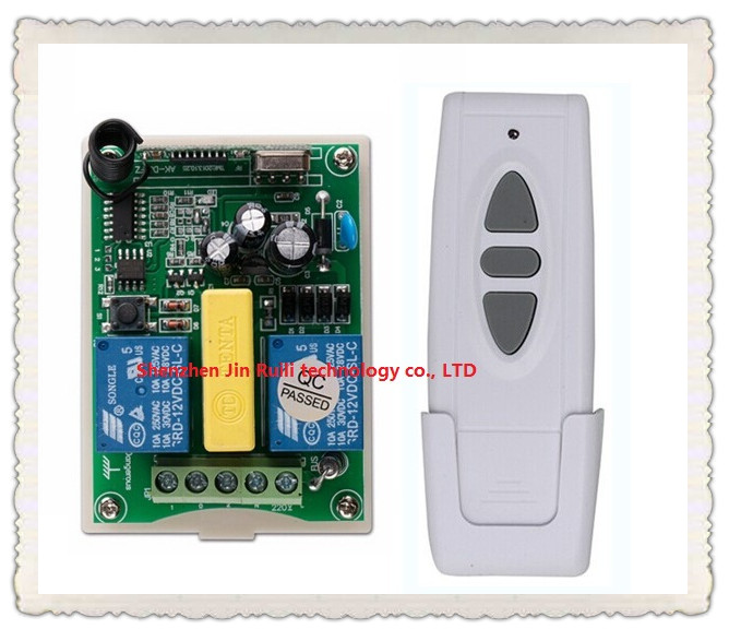 AC 220V Wireless Remote Control Switch 1 * receiver + 1* transmitter Tubular motor forward and reverse<br><br>Aliexpress