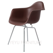 Minimalist modern design Plastic and Metal Steel Dining Side Armchair Modern Furniture Dining Room popular nice Dining Chairs