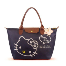 Hello Kitty Waterproof Large Beach Bag for Women's summer bag foldable big shopping bag multipurpose female sac