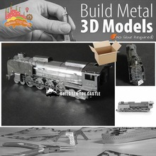 NEW  Steam Locomotive model kit laser cutting 3D puzzle DIY metalic jigsaw free shipping best birthday gifts for kids