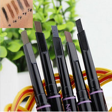 Multifunctional Automatic Eyebrow Waterproof Pencil Easily Chipped Paint Rotateslong-lasting Easy To Wear Makeup 5 Color 1 PCS