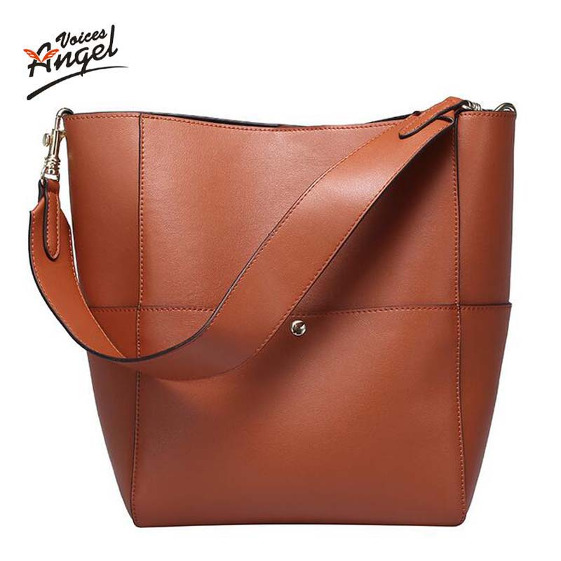 Newest Bucket Genuine Leather Bags Famous Brand Ladies Crossbody Bags Designer Handbags High Quality Shoulder Bags For Women<br><br>Aliexpress