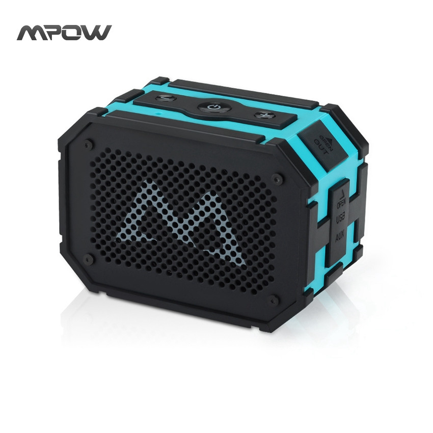 Mpow Portable mini Wireless Bluetooth 4.0 Speaker Passive Outdoor Waterproof super high quality Speaker with Mic for Smartphones(China)