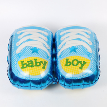 Free shipping 1pcs/lot baby one hundred days birthday party party shoes decorated aluminum balloons(China)