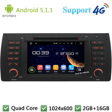 Quad Core 1024*600 Android 5.1.1 Car DVD Player Radio Stereo 3G/4G WIFI GPS Map For BMW X5 E53 E39 E38 M5 5 7 Series Range Rover