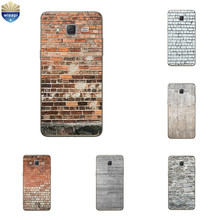 "for Galaxy C7 / C7 Pro Phone Case 5.7"" for Samsung Galaxy Note 4 5 7 Shell Transparent for Grand Prime G530 Brick Pattern"