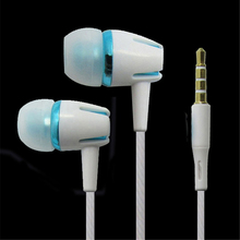 Best sound volume control earphone 3.5MM round cable with mic earbuds white color in-ear useful Earplug for Xiaomi mp3 mp4.(China)