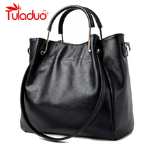 Buy Women Shoulder Bags Genuine Leather Ladies Famous Brand Design Handbag 2017 Spring Female Large Capacity Tote Bag Bolsos Mujer for $29.92 in AliExpress store
