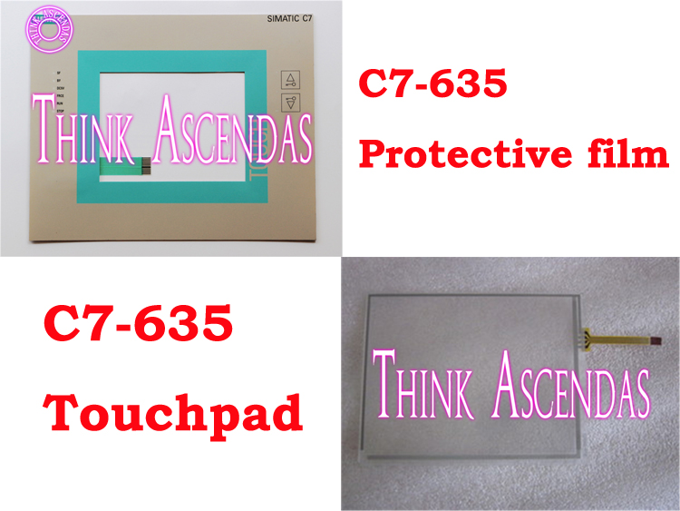1pcs New C7-635 6ES7635-2EB02-0AE3 6ES7 635-2EB02-0AE3 / 6ES7635-2EC01-0AE3 6ES7 635-2EC01-0AE3  Protective film Touchpad<br>