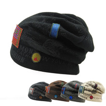Unisex Winter Skull Men Knit Beanie Reversible Baggy Wool Caps Warm Hats