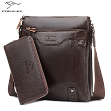 2017 Luxury Brand Men's Bag and Purse Messenger Bags Men Leather Casual Travel Crossbody Bag For Men Shoulder Bags Bolsa a Sac(China)