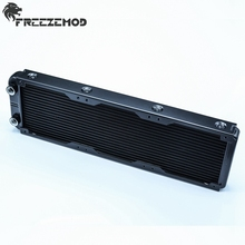 FREEZEMOD 360mm Aluminium computer water discharge liquid heat exchanger thread radiator for 120mm Triple-fans. SR-L360G14(China)