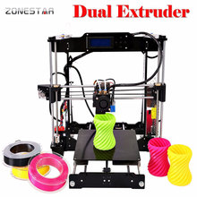 Optional Dual Extruder Reprap Prusa i3 3d printer DIY kit P802N/P802NR2 Selectable Filament SD Card LCD Free Shipping