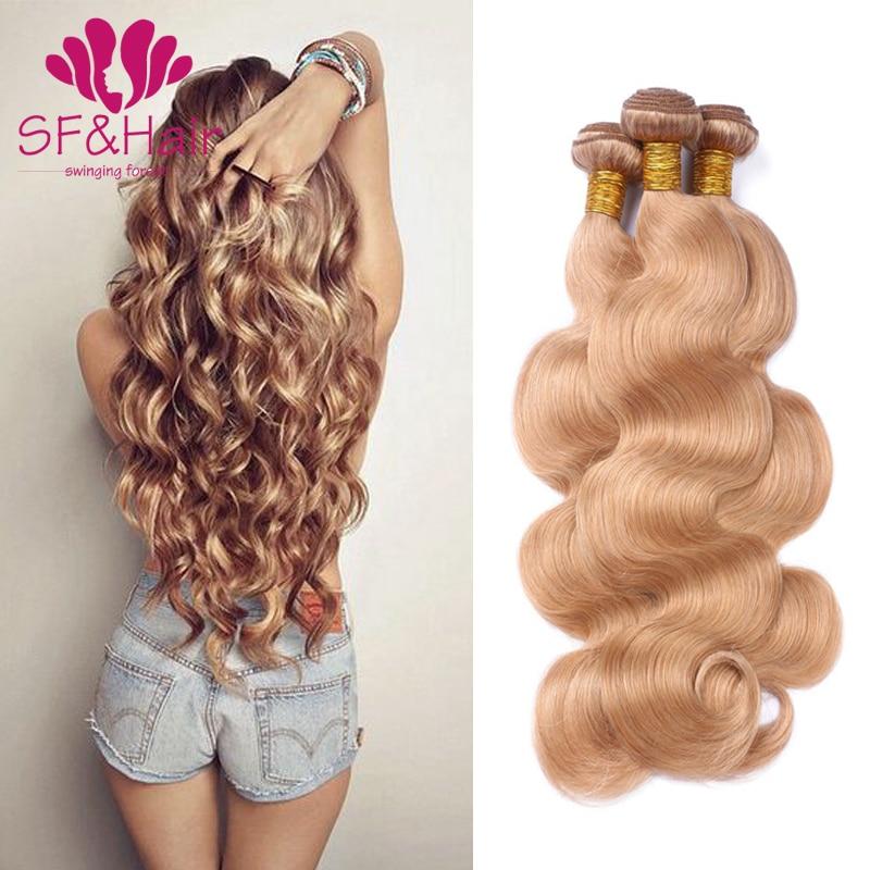 2017 New Arrival #27 Blonde Brazilian Hair 8A 100% Human Virgin Honey Blonde Brazilian Hair 3 Bundles Wet And Wavy Body Wave<br><br>Aliexpress