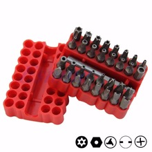 33Pcs Security Bit Set with Holder Fr Drill Star Hex Spanner Torx Screwdriver(China)