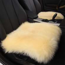 Universal Australian Pure Natural Wool Seat Cover,7 Colors Winter Car Cushion, 1 PCS/ Lot Free Shipping For Russian(China)