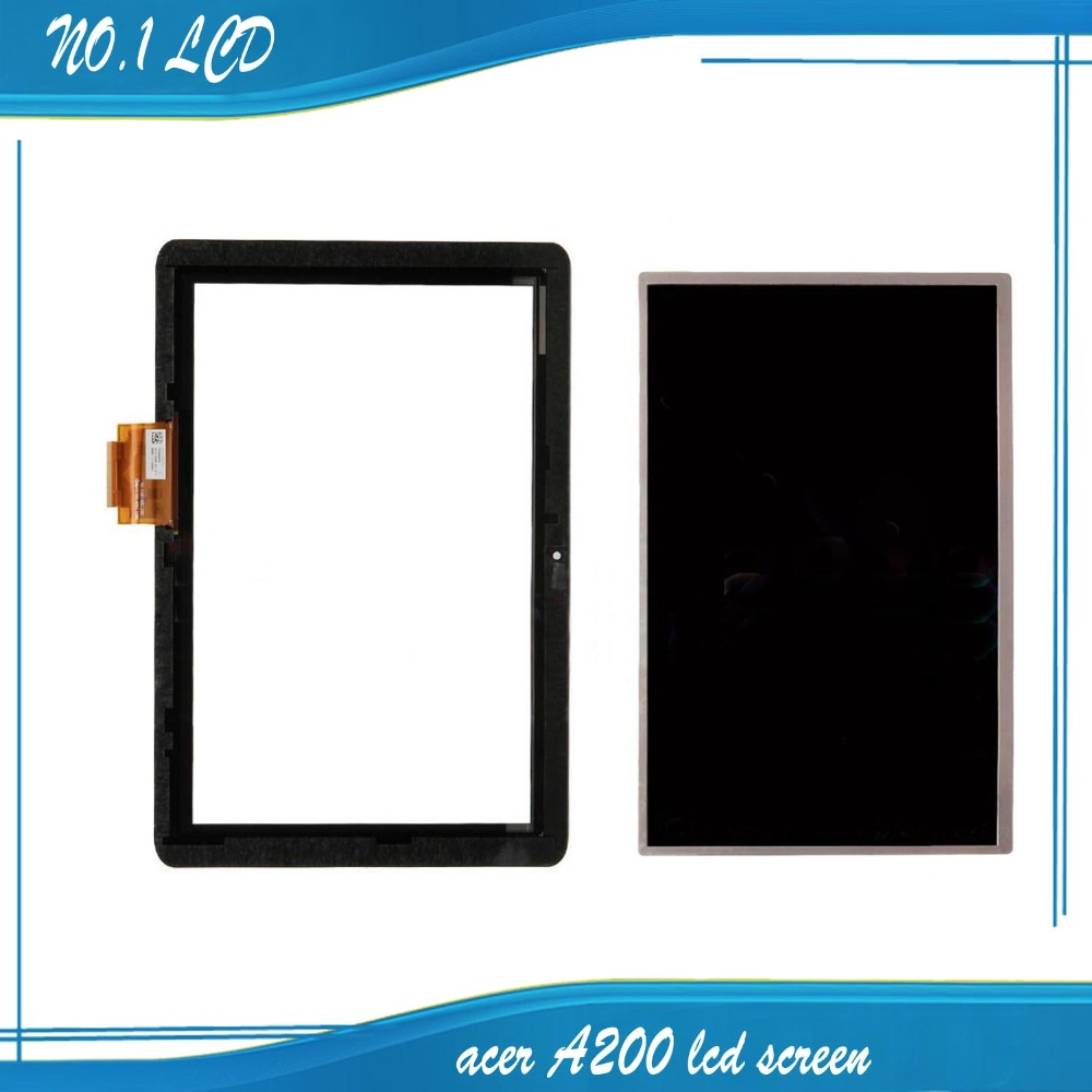 100% test For 10.1 Acer Iconia Tab A200 Full New LCD Display Panel Screen Monitor+Black Touch Screen Digitizer Sensor<br><br>Aliexpress