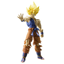 Dragonball Dragon ball Z Bandai S.H.Figuar Tamashii Nations Super Saiyan Son Goku Super Warrior Awakening Action Figure Toys