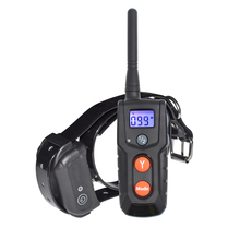 Ipets 916-1 Rechargeable Waterproof Dog Electronic Shock Training Collar with Blue LCD display PET916-1