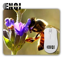 1pcs Berserk honey bee Background pattern Print Manufacture high quality Speed Game Optics Rectangular Mouse Mat Mices Pads(China)