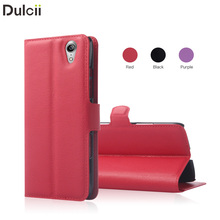 Fashion Lady young People bag for lenovo S 960, Litchi Grain Leather Phone Case for Lenovo VIBE X S960 - Red