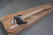 China guitar factory custom  new New solid body Natural color Maple Wood top standard telecaster electric Guitar 1221