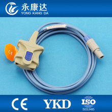3pcs/lot Adult Soft Tip spo2 sensor for BLT with TPU Cable,Proved CE,ISO13485 manufacturer(China)