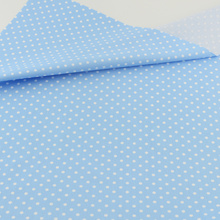 News arrivals Blue Polka Dot Designs Cloth Bedding Patchwork Quilting Sewing Cloth Craft Decoration Teramila Fabrics Tissue(China)