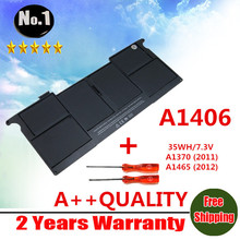 Wholesale new   Laptop Battery For Apple MacBook Air A1406 A1370 2011 Production A1465 2012 version  MC965 Free shipping