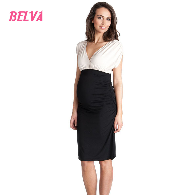 Belva 2017 maternity photography breastfeeding dress for photo shoot pregnancy clothes maternity summer dress DS102<br>