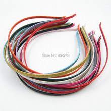 5pcs Black Headband Korean Style Cloth Metal ribbon fabric wrap band Hair Accessories 5mm for DIY Craft