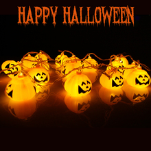 Halloween Party Decoration Supplies Pumpkin SKull Led Lights String Halloween Scene Props