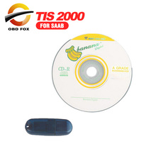 TIS2000 CD And USB Key For GM TECH2 for SAAB Car Model TIS 2000 Software USB Dongle TIS 2000 Dongle Free shipping