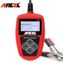 Ancel BA101 Car Battery Tester 12V Digital Analyzer 2000CCA 220AH with Japanese Korea Multi Languages BAD Cell Test Car Tools(China)