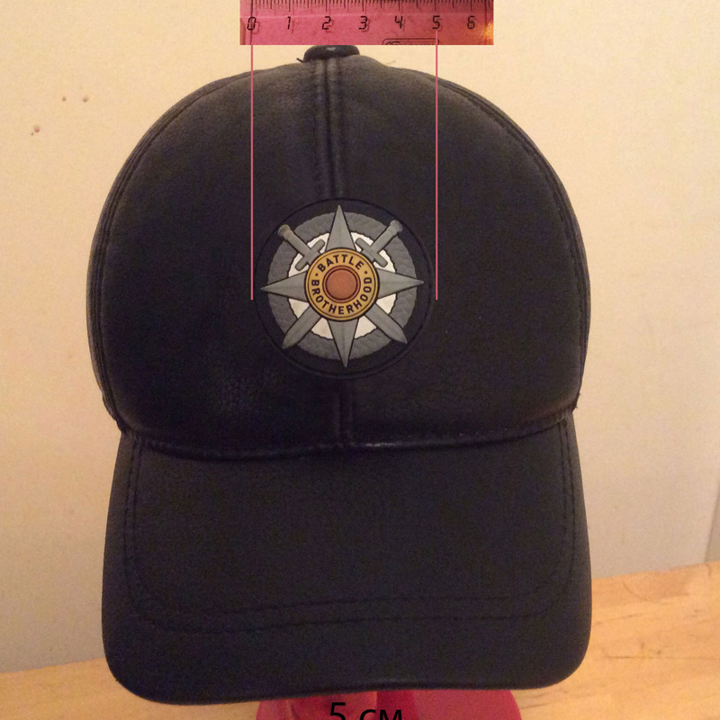 Customized Hat Clothing bags LOGO PVC soft rubber Badges for Russia Amry( RB-002)