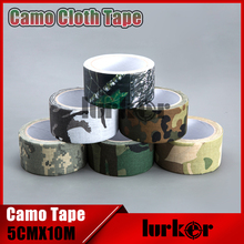 Tactical 5cmX10m Waterproof Camo Cloth Duct Tape Gun Hunting Camping Camouflage Stealth Tape Wrap Outdoor Hunting Shooting Tool