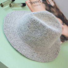 2015 New Hot Sale Women 30%ANGORA Vintage Blower Jazz Hat Trilby Derby Cap Fedora Style Hats Black Gray Pink Beige Panama Hat