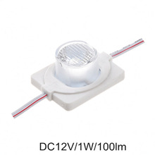 100pcs/lot 1W high power led module side lighting 5050 led lamps 1 led module injection lens super brightness