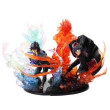 21cm Naruto Shippuden Zero Fire Uchiha Itachi Sasuke Susanoo Relation Figuarts PVC Action Figure Collection Model Toy