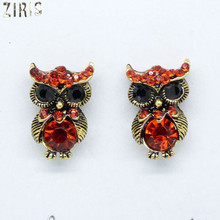 ZIRIS Fashion women in Euramerican Pop fashion personality set auger restoring ancient ways the owl ear stud